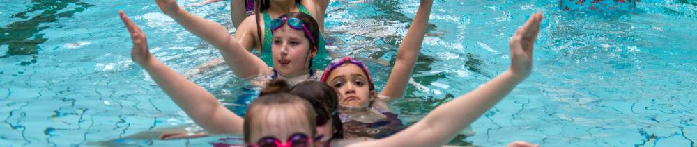 Junior Mermaids practicing in the pool